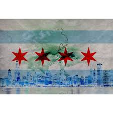 Chicagos Flag Stormy Chicago Flag Abstract Wall Graphic U2013 Zapwalls