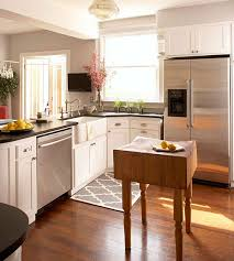 narrow kitchen with island awesome small space kitchen island ideas bhg throughout narrow