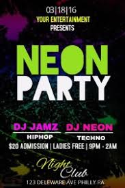 neon party customizable design templates for neon party postermywall
