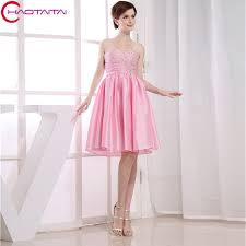 knee length bridesmaid dresses aliexpress buy taffeta a line sweetheart sleeveless crystals