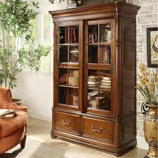 Mahogany Bookcase With Glass Doors Furniture Interior Charming Bookshelf With Glass Doors