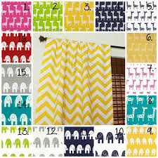Yellow Nursery Curtains Nursery Curtain Panels Elephant Drapes Giraffe Curtain Panels
