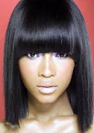 photo weave hairstyles bob with bangs straight weave hairstyles