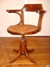 chaise de bureau en bois à fauteuil de bureau thonet vers 1930 bois courbé pied perroquet