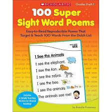 100 super sight word poems grades prek 1 easy to read