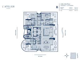 St Regis Residences Floor Plan L U0027atelier Miami Beach Condo 6901 Collins Ave Florida 33141