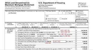 Fha Streamline Worksheet by Where To Put The Fees On A Hud For A 203k Transaction