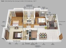 3 Bhk Apartment Floor Plan by 3 Bhk 1342 Sq Ft Apartment For Sale In Merlin 5th Avenue At Rs