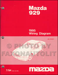 1995 mazda 929 repair shop manual original