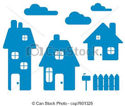 three houses three houses set vector clipart vector search illustration
