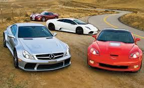 golden super cars corvette zr1 vs sl65 amg black series murciélago lp640 viper