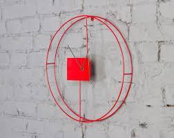 Wall Clocks by Contemporary Wall Clocks Red Oversized Contemporary Wall Clocks
