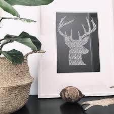 yorkelee wall art prints home decor australia stag head wall
