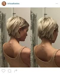 front and back views of chopped hair short choppy bob haircut pinteres
