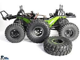 mega truck chassis lift kit by strc for axial scx10 chassis making a mega mud truck
