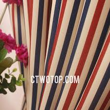 Red Blue Curtains Chic Blackout Beige Red And Dark Blue Striped Curtains
