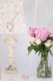 Pink Peonies Bedroom - how to add sophistication to a white bedroom shabbyfufu