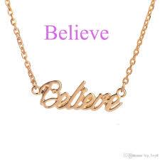 wholesale the letter pendant necklace hope love faith lucky peace