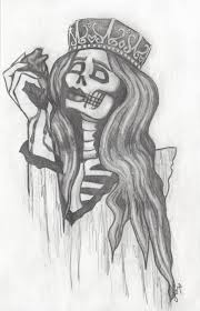 tiffany fox art queen of hearts dark heart halloween drawing