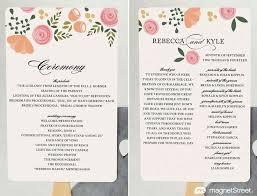 Examples Of Wedding Programs Templates 27 Best Wedding Program Styles Images On Pinterest Wedding