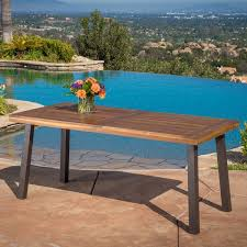 Wood Rectangle Dining Table Sparta Acacia Wood Rectangle Dining Table By Christopher