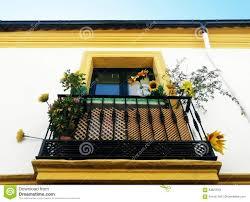 beautiful balcony beautiful balcony in cordoba stock photo image 83627618
