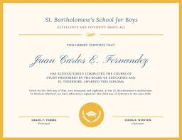 blue and gold simple high diploma certificate templates