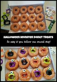 pictures of halloween monsters halloween monster donuts diy sisterhood of the sensible moms