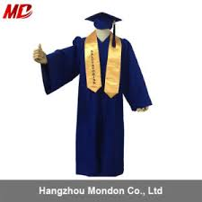 blue cap and gown china royal blue matte graduation caps and gowns with gold stole