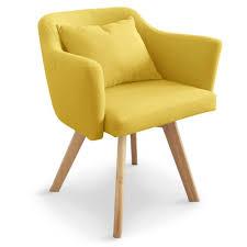 chaise bureau jaune chaise fauteuil scandinave dantes tissu jaune