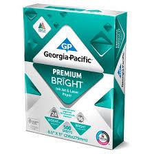 georgia pacific printer paper letter size 24lb premium bright
