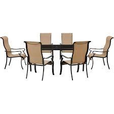 7 piece glass dining room set brigantine 7 piece glass top dining set brigdn7pc gls
