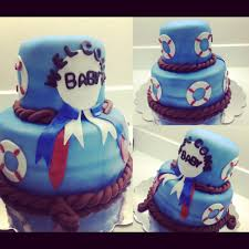nautical theme baby shower cake by deeluscious cakes yelp