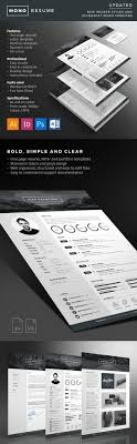 minimalistic resume psd settings content flash player 25 creative resume templates to land a new job in style
