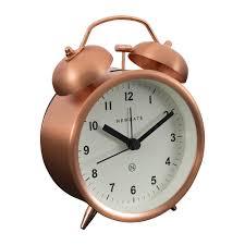 buy newgate clocks charlie bell alarm clock radial copper amara