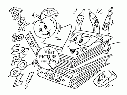 back to supplies coloring page for kids coloring