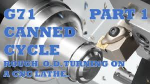cnc lathe programming lesson 2 part1 of 2 g71 canned cycle for