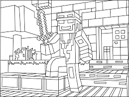minecraft ninja coloring page minecraft coloring ebook 2 pinterest
