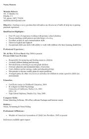 Sample Resume For Nanny Job by Sample Of Nanny Resume Resume Cv Cover Letter Choose Babysitting