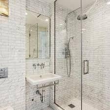 White Shower Backsplash Tiles With White Grout Design Ideas - Shower backsplash