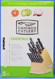 Chicago Cutlery Kitchen Knives New Chicago Cutlery Kitchen Knife Set Wood Block Steak Knives