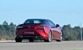 2018 lexus lc 500 red test drive rear view gallery photo 5 of 84