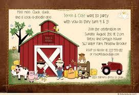 joint farm animal birthday invitations barnyard