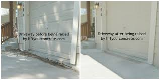 concrete driveway sinking repair driveway before after liftyourconcete com 1024x512 jpg
