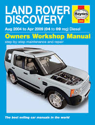land rover discovery tdi land rover discovery diesel aug 04 apr 09 haynes repair manual