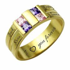 family ring four stones and names personalized family ring morrison empire