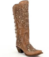 womens corral boots size 12 corral boots inlay and straps block heel boots dillards