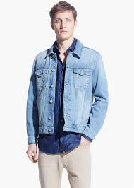 Light Denim Jacket Mango Light Wash Denim Jacket In Blue For Men Lyst