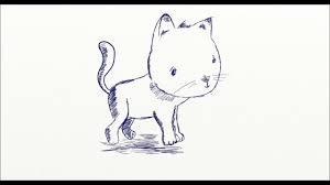 how to drawing a cute cat drawing for kids wacom intuos youtube
