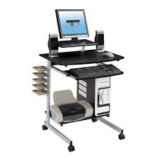 Small Laptop Computer Desk Techni Mobili Rolling Computer Desk Graphite Walmart